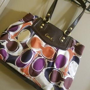 Beautiful multicolored Coach bag